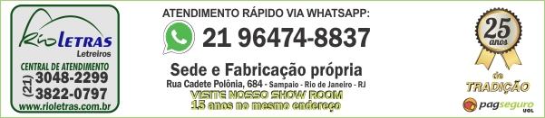 Letras de aço | Placas | Letreiros | Adesivos | Acrílico | Rio de Janeiro | Rioletras RJ